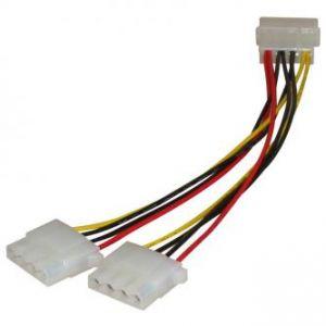 """Kabel k hardisku napájecí rozdvojka, DC 5,25"""" M- DC 5,25"""" 2x F, 0.2m, color"""