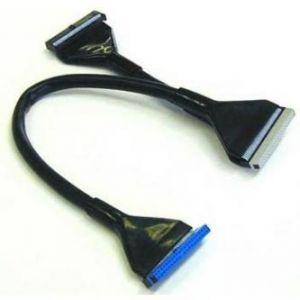 Kabel k hardisku datový ATA 133, ATA M- ATA 3x F, 0.45m, 80 žil, ATA133, kulatý, černý, Lo