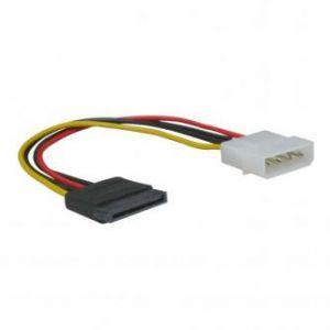 """Kabel k hardisku napájecí, DC SATA M- DC 5,25"""" M, 0.2m, color, LOGO, blistr"""
