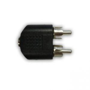 Audio Redukce, Cinch 2x M-Jack (3,5mm) F, 3.5, stereo, černá, LOGO