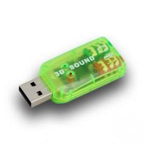 Redukce Audio, USB(A)-Jack(3,5mm) 2x, M/F, USB zvuková karta