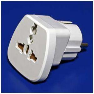 Cestovní adaptér Vidlice-Zásuvka M/F bílý pro zahraniční přístroje