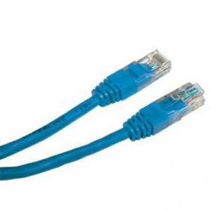 UTP patchcord UTP patchcord, Cat.5e, RJ45 M-0.5m, nestíněný, modrý, economy