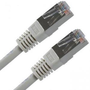 FTP patchcord FTP patchcord, Cat.5e, RJ45 M-1m, stíněný, šedý, economy