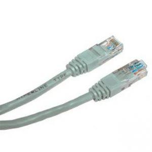 UTP patchcord UTP patchcord, Cat.5e, RJ45 M-5m, nestíněný, šedý, LOGO, blistr