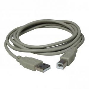 Kabel USB (2.0), USB A M- USB B M, 5m, šedý