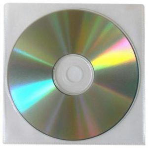 Obálka na 1 ks CD, polypropylen, průsvitná, bez klopy, balení/100ks, cena/1ks