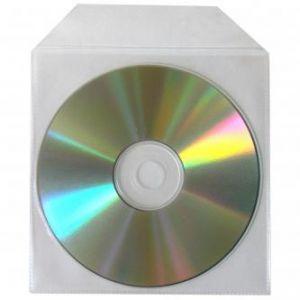 Obálka na 1 ks CD, polypropylen, průsvitná, s nelepicí klopou, balení/100ks, cena/1ks