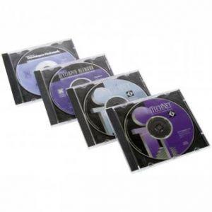 Box na 1 ks CD, průhledný, černý tray, 10,4 mm, balení/200ks, cena/1ks