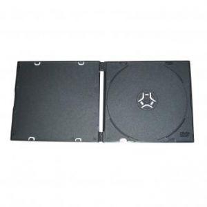 Box na 1 ks CD, měkký plast, černý, tenký, 5.2 mm, balení/200ks, cena/1ks
