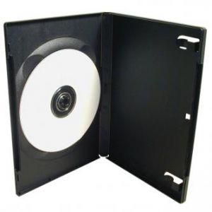 Box na 1 ks DVD, černý, 14mm, 100-pack, cena za 1 ks