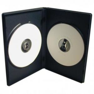 Box na 2 ks DVD, černý, 14mm, 100-pack, cena za 1 ks