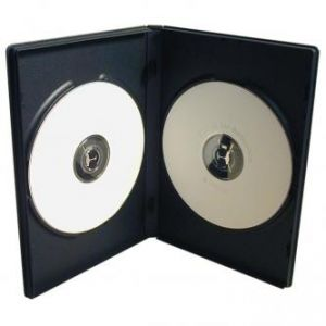 Box na 2 ks DVD, černý, slim, 7mm, 100-pack, cena za 1 ks