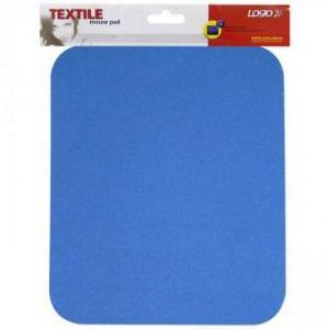Podložka pod myš, měkká, modrá, 24x22x0,3 cm, LOGO