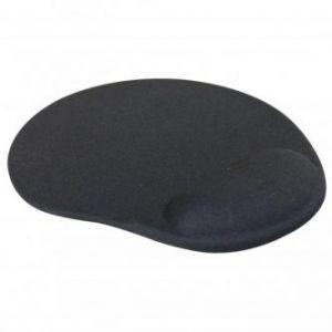 Podložka pod myš, ergonomická, gelová, černá, LOGO