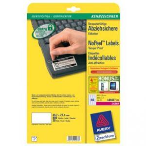 AVERY ZWECKFORM etikety 45,7 x 25,4 mm, A4, bílé, 40 etiket, permanentní, odolné vůči mani