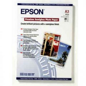 EPSON Premium , foto papír, pololesklý, bílý, Stylus Photo 1290, 2100 C13S041334 A3 251g