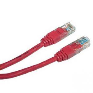 UTP patchcord UTP patchcord, Cat.5e, RJ45 M-0.25m, nestíněný, červený, economy