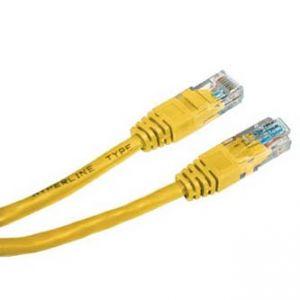 UTP patchcord UTP patchcord, Cat.5e, RJ45 M-0.25m, nestíněný, žlutý, economy