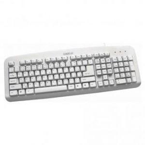 LOGO Klávesnice Standard, klasická, bílá, drátová (USB), CZ/SK
