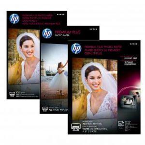 """HP Premium Plus Glossy Photo Paper, foto papír, lesklý, bílý, 10x15cm, 4x6"""", 100x150mm, 30"""