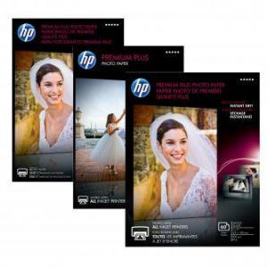 """HP Premium Plus Glossy Photo Paper, foto papír, lesklý, bílý, 13x18cm, 5x7"""", 130x180mm, 30"""