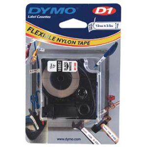 DYMO Originální páska D1 16957 / S0718040 12mm x 3.5m černý tisk/bílý podklad