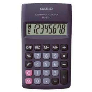 Kalkulačka CASIO HL 815L BK, černá, kapesní, osmimístná