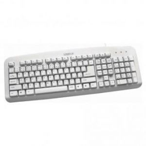 LOGO Klávesnice Standard, klasická, bílá, drátová (USB), US