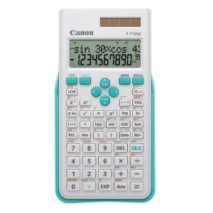 Kalkulačka CANON, F-715SG, bílá, školní, dvanáctimístná, s modrým krytem