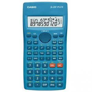 Kalkulačka CASIO FX 220 PLUS, modrá, školní, desetimístná