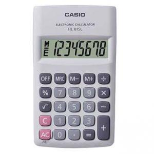 Kalkulačka CASIO HL 815L WE, bílá, kapesní, osmimístná