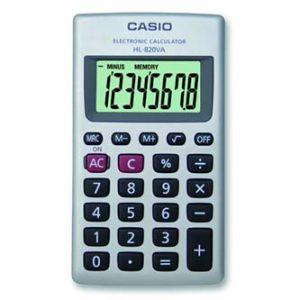 Kalkulačka CASIO HL 820 VA, bílá, kapesní, osmimístná