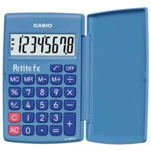 Kalkulačka CASIO LC 401 LV BU, modrá, kapesní, osmimístná