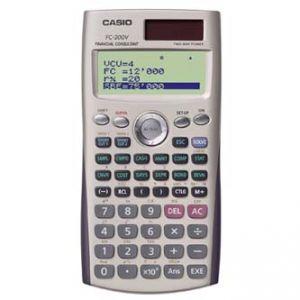 Kalkulačka CASIO FC 200 V, bílá, finanční s 4 řákovým displejem