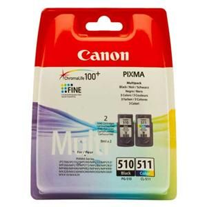 CANON originální ink PG-510/CL-511, black/color, 220, 245str., 9ml, blistr, Cano