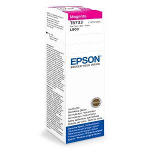 EPSON originální ink C13T67334A, magenta, 70ml, EPSON L800