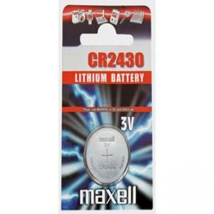 Baterie lithiová, knoflíková, CR2430, 3V, Maxell, blistr, 1-pack