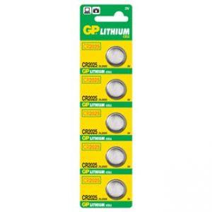 Baterie lithiová, knoflíková, 3V, GP, blistr, 5-pack, cena za 1 ks baterie