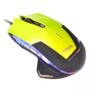 E-BLUE Myš herní Mazer R optická 6tl. 1 kolečko drátová USB zelená 2400dpi