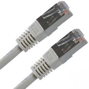 FTP patchcord FTP patchcord, Cat.5e, RJ45 M-1.5m, stíněný, šedý, economy