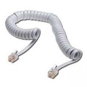 Telefonní kabel 4 žíly, RJ10 M-4m, kroucený, bílý, economy, pro ADSL modem