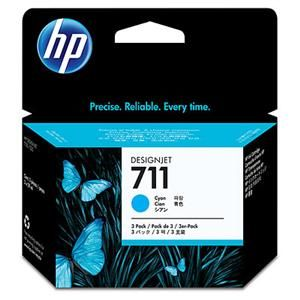 HP originální ink CZ134A, HP 711, cyan, 3x29ml, 3ks, HP DesignJet T120, T520