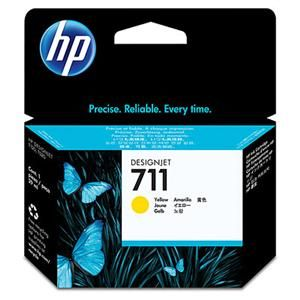 HP originální ink CZ132A, HP 711, yellow, 29ml, HP DesignJet T120, T520