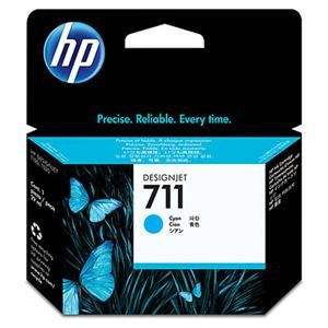 HP originální ink CZ130A, HP 711, cyan, 29ml, HP DesignJet T120, T520