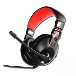 E-BLUE, Conqueror I., sluchátka s mikrofonem, ovládání hlasitosti, černá, 3.5 mm jack