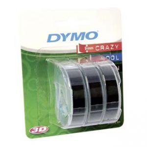 DYMO Originální páska 3D S0847730 3ks do tiskárny štítků OMEGA 9mm x 3m černý podklad