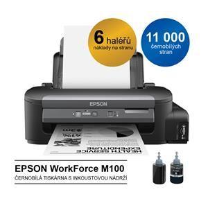 EPSON WorkForce M100 Tiskárna A4 černobílá 34 ppm mono ITS 1440x720 dpi inktank