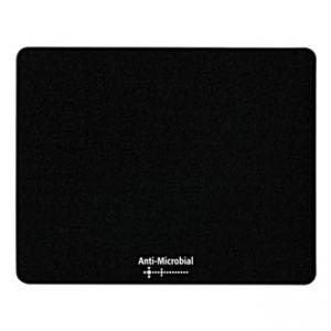 Podložka pod myš, Polyprolylen, černá, 24x19cm, 0.4mm, LOGO, antimikrobiální
