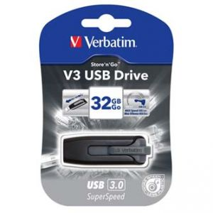 VERBATIM USB flash disk, 3.0, 32GB, Store,N,Go V3, černý, 49173